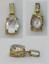 Joli-PENDENTIF-ANCIEN-PLAQUE-OR-PIERRE-CHAINE-BIJOUX-FEMME-SOIREE miniature 1