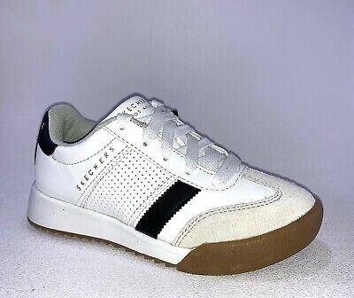 Skechers ZINGER Little Kid//Big Kid Black//White 93520L//BKW Lace Up Casual Shoes