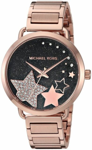 Michael Kors Women S Portia Rose Gold Tone Bracelet Watch 37mm Mk3795