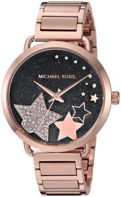 Michael Kors Women S Portia Rose Gold Tone Bracelet Watch 37mm Mk3795