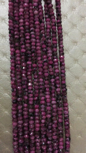 """15/"""" ROSE 2x4mm rubis zoïsite Blotter hand cut Faceted Loose Beads Small AAA"""