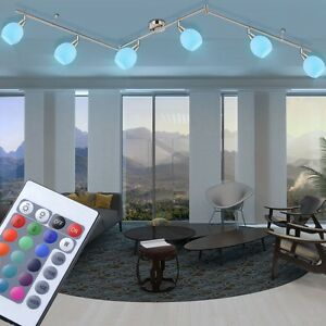 RGB-LED-Cover-Spotlight-Dimmable-Dinner-Room-Light-Remote-Control-Glass-Rotating