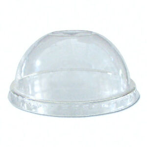 Compostable Biodegradable 12- 24oz Clear Dome Lid for Cold Cup (1,000)