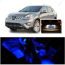 For Nissan Rogue 2008-2013 Blue LED Interior Kit +Xenon White License Light LED