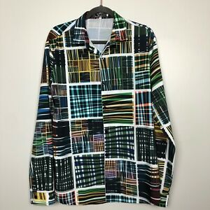 Mymstorm-Men-039-s-Shirt-Size-XXL-Long-Sleeve-Multicolor-Print