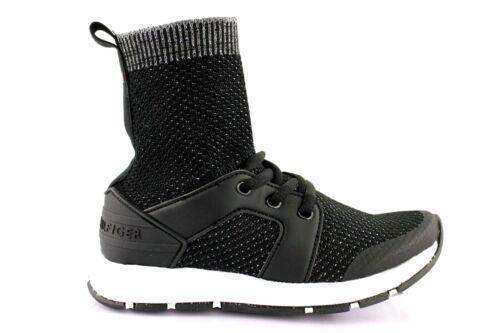 Tommy Hilfiger Bambini Sneaker High Da Uomo-Sneaker Scarpe Da Ginnastica Nero EUR 31