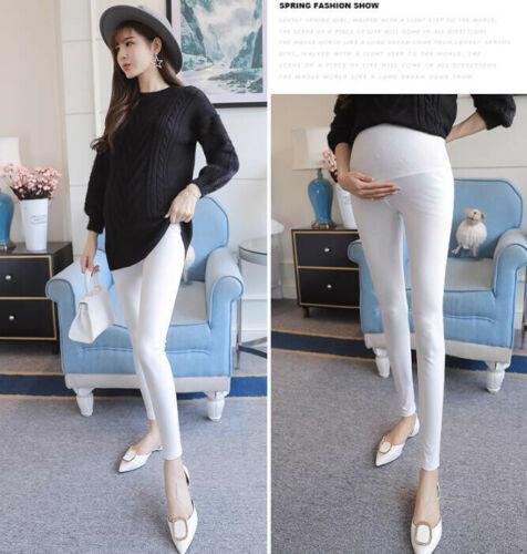 Women Stretchy Maternity Leggings Over Bump Full Length Pregnancy Pants Trousers