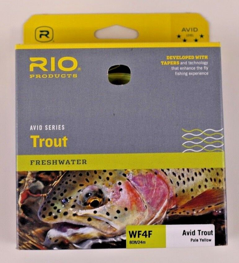 Rio Avid Trout Fly Line WF4F Pale Gelb Free Fast Shipping 6-20129