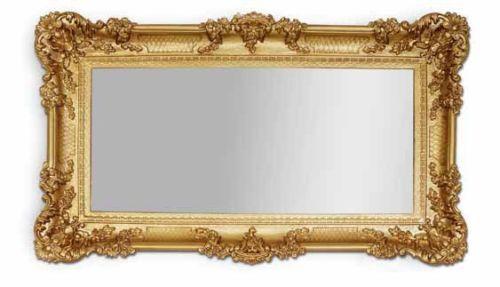 Miroir Mural Baroque or Miroir Repro Miroirs de Sale de Bain 97x57 Grand