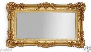 Dettagli su Specchio da Parete Barocco Oro Specchio Repro Specchi Bagno  97x57 Grande