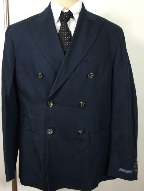 Polo Ralph Lauren Suit Jacket Navy Blue Mens 42 Regular Double Breasted