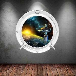 couleur-complete-ESPACE-Hublot-Planete-Galaxy-Art-Mural-Autocollant-Decalque