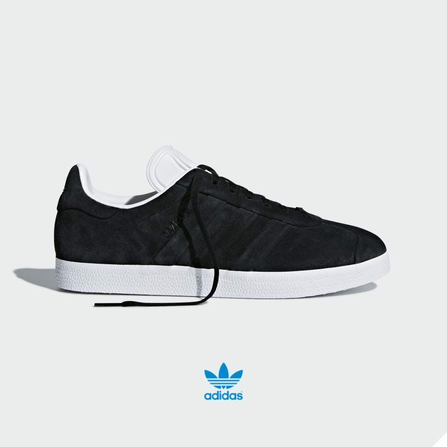 Adidas Originals Gazelle Stitch Turn shoes CQ2358 Athletic Black White SZ 4-12