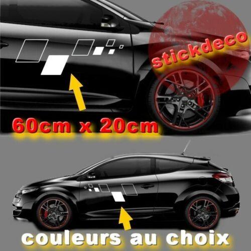 Kit Damier Renault Sport X2 STICKERS STICKER AUTOCOLLANT 60X20cm-couleur o choix