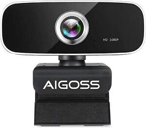 Aigoss Webcam 1080p Full HD con Microfono PC Laptop Desktop Computer USB per ...