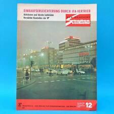Der Deutsche Straßenverkehr 12/1969 DDR Trabant Wartburg Saporoshez IFA F