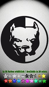 Pit-Bull-Hund-Dog-Hardcore-Aufkleber-Sticker-10cm-x-10cm