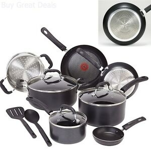 Induction Cookware Set Pots And Pans Nonstick T Fal Professional 12