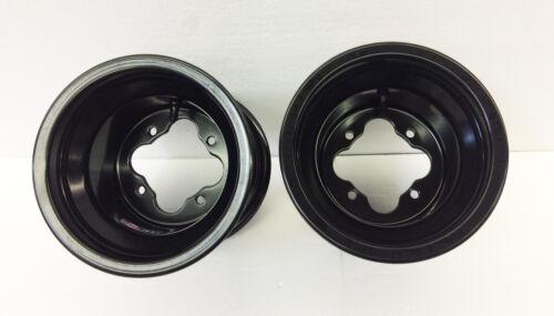 "DWT Black A5 Rolled Lip ATV Rear Wheel PAIR 8/"" 8x8 3+5 4//110 Can am DS450 450"