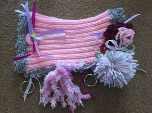 Hand crocheted создает Fiddle démence//autiste Mitt manchon neuf divers cols
