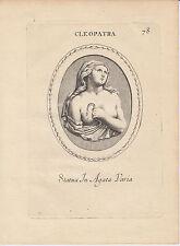 1821 Grabado # 78 De Cleopatra-carácter En Agata varia por galestruzzi