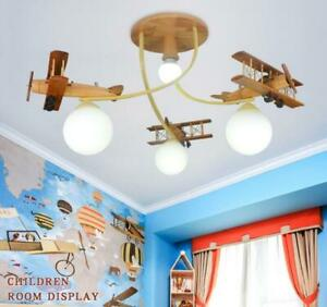 Boy Bedroom Led Cartoon Light Aircraft