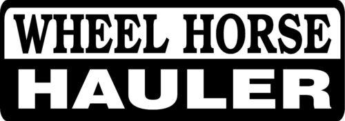 SET OF 2 BLACK WHEEL HORSE HAULER DIE CUT DECAL