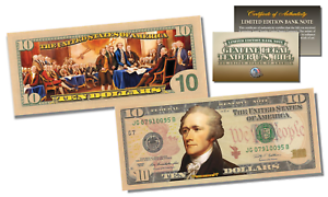 Declaration-of-Independence-Official-Legal-Tender-U-S-10-Bill-w-COA-2-Sided
