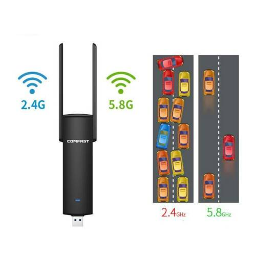1200Mbps Dual Band 5.8//2.4Ghz Wireless LAN Adapter USB 3.0 WiFi Dongle