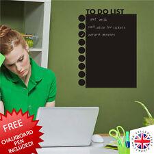 BLACKBOARD Chalkboard Sticker Vinyl Home Office Planner Todo List Task Manager