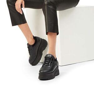platform leather trainers