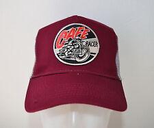 Cafe Racer,Mütze,,Trucker Cap,Burgundy,Biker,BSA,Old School,Triumph,Vintage
