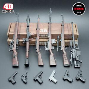 1-6-Scale-6pcs-4D-Rifle-Assembly-Weapon-Model-Set-Gun-Toy-Fit-12-034-Figure-Body