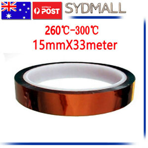 15mmX33m-Heat-Resistant-High-Temperature-adhesive-Polyimide-Kapton-Tape-Gold-AU