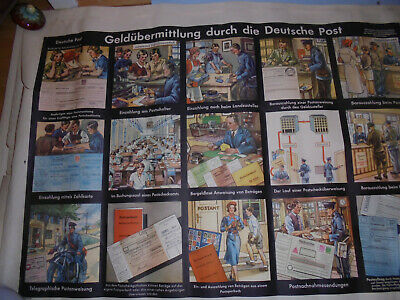 Post Präsentationsbedarf Nett 30048 Plakat Geldübermittlung Durch Die Deutsche Post Schultafel 60x80 Verbraucher Zuerst