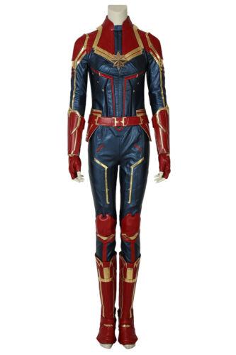 Captain Marvel Carol Danvers Cosplay Costume Leather Halloween Full Suit Lot