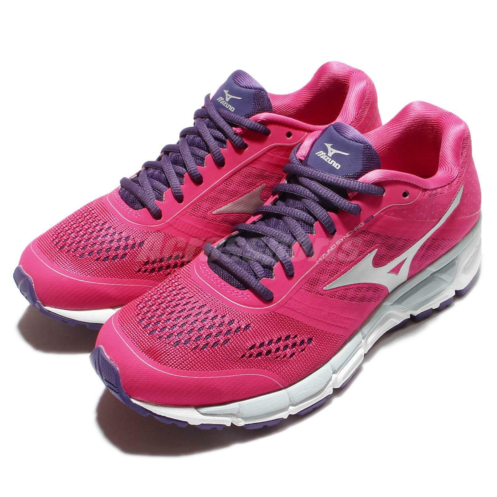 Mizuno Synchro MX Womens Pink White Running shoes Trainers Sneakers J1GF16-1904