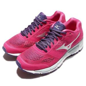 Mizuno-Synchro-MX-Womens-Pink-White-Running-Shoes-Trainers-Sneakers-J1GF16-1904