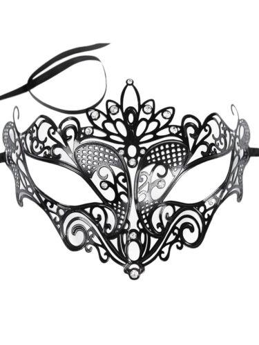 Veneziane occhi maschera in metallo con strass