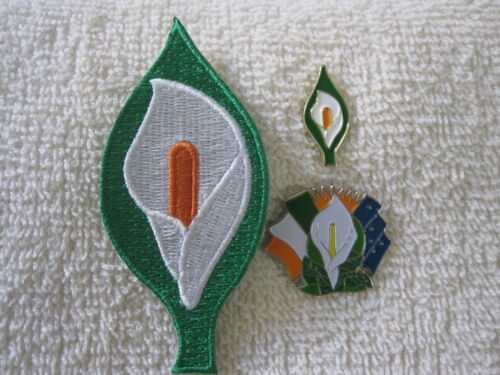 Easter Lily {3pc Set} Patch /& Badges Irelands Tri Color// Sunburst /& Starry Flag