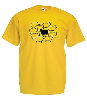 Black Sheep Funny Farm Present Tee New Mens Womens T Shirt Top 8-16 S M L Xl Xxl Eine GroßE Auswahl An Farben Und Designs
