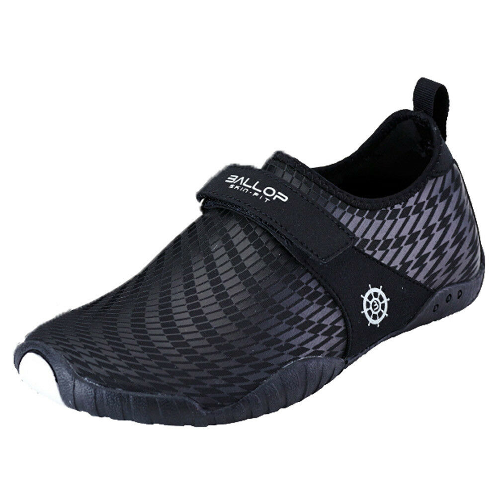 BALLOP Patrol Barfußschuhe V2-Sohle Wasserschuhe Skin Fit schwarz