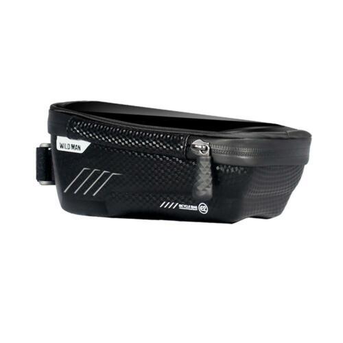 WILD MAN Mountain Bike Bag Waterproof MTB Mobile Phone Case Front Tube Bags H1