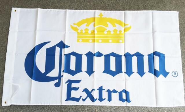 CORONA BEER FLAG MEXICO CERVEZA - 90cm x 150cm BAR FLAG WITH GROMMETS MAN CAVE