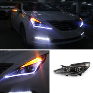 Details About 1set Hi Q Hid Bi Xenon Projector Headlight With Drl For Hyundai Sonata 2012 2014