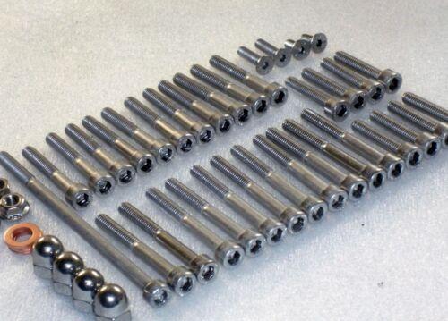 Honda moteur CB175 Couvre cylindre 55x en acier inoxydable Allen Bolt Dome Nut Kit