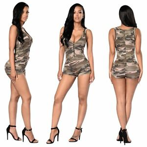 870b5fe65a Image is loading NEW-Women-Ladies-Clubwear-Summer-Playsuit-Bodycon-Party-