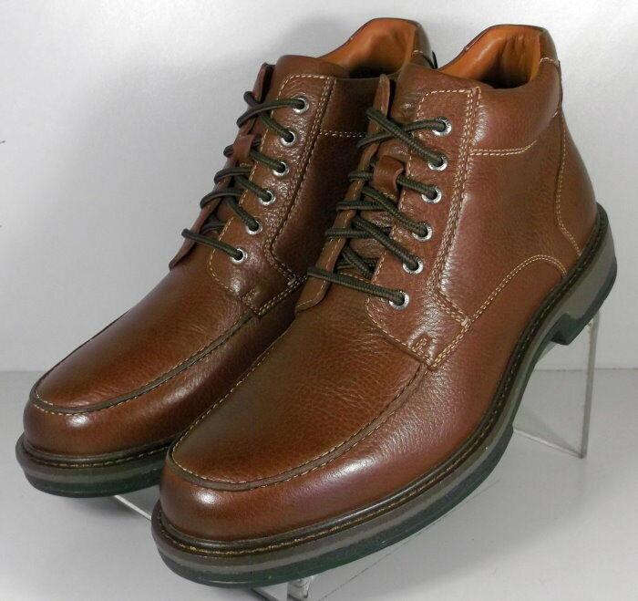 253082 MSBT50 Men's shoes Size 10 M Dark Tan Leather Boots Johnston & Murphy