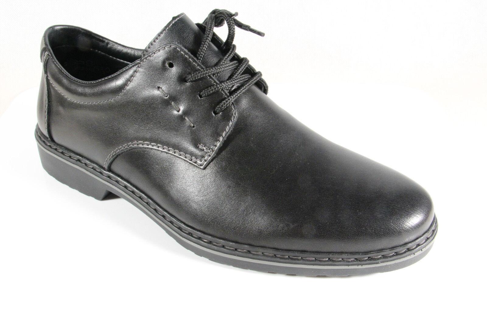 Rieker zapatos    Bajos Estilo Pantuflas de Cordones Negro, Cuero Auténtico 16502 e5ad4e
