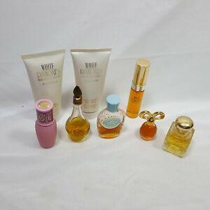 Multi-Brand-Vintage-8-Piece-Perfume-Lotion-Set-Collectible-Mini-Bottles